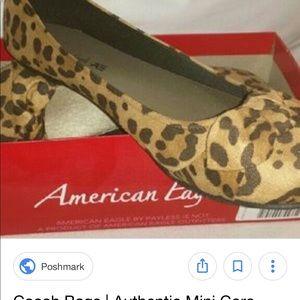 American Eagle Leopard Ballet Flat w/ Bow